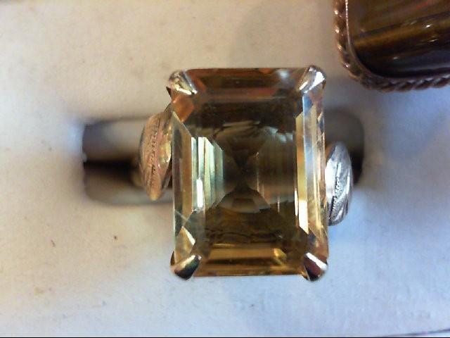 Citrine Lady's Stone Ring 14K Yellow Gold 4.7g