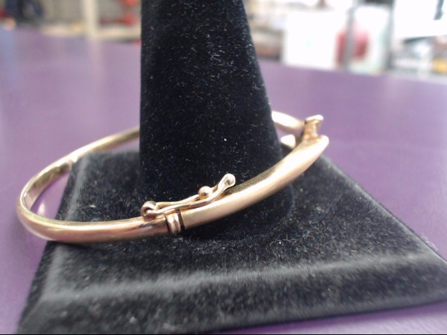 Gold-Diamond Bracelet 3 Diamonds .21 Carat T.W. 18K Yellow Gold 17.87g