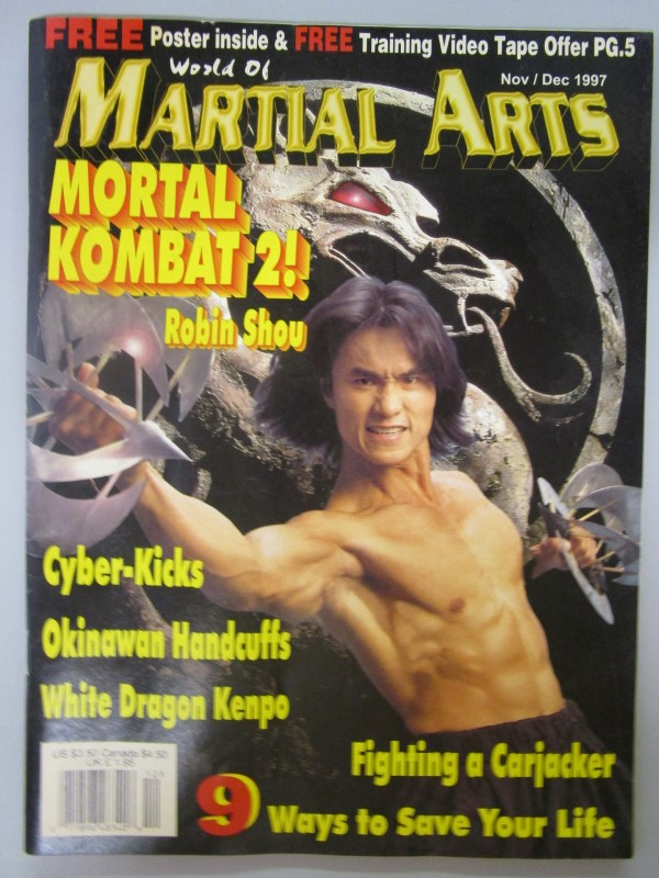 WORLD OF MARTIAL ARTS NOVEMBER/ DECEMBER 1997 ; MORTAL KOMBAT'S ROBIN SHOU