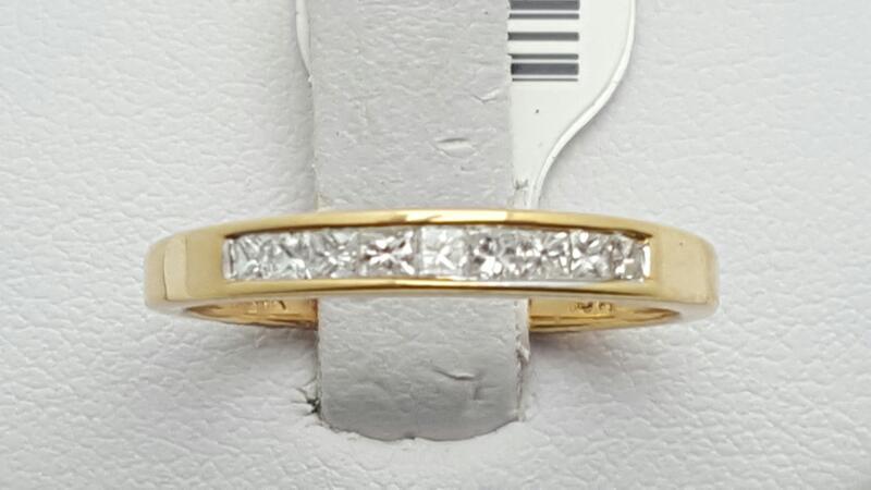 Lady's Gold-Diamond Anniversary Ring 9 Diamonds 0.25 Carat T.W. 14K Yellow Gold