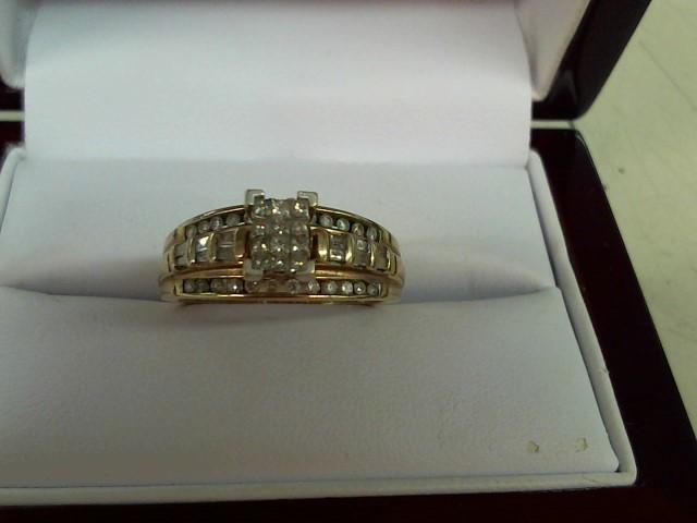 Lady's Diamond Engagement Ring 48 Diamonds 1.08 Carat T.W. 14K Yellow Gold 4.5g