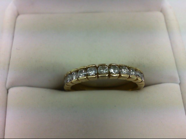 Lady's Diamond Wedding Band 11 Diamonds 0.55 Carat T.W. 14K Yellow Gold 2.6g Siz