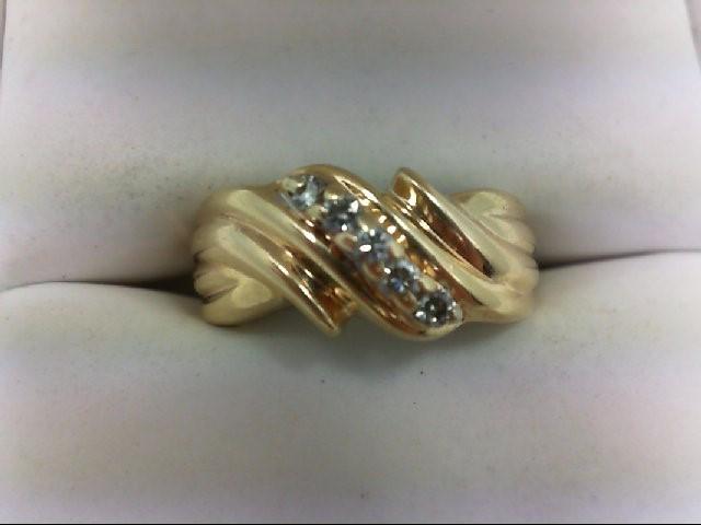 Lady's Diamond Wedding Band 5 Diamonds 0.15 Carat T.W. 14K Yellow Gold 3.9g Size