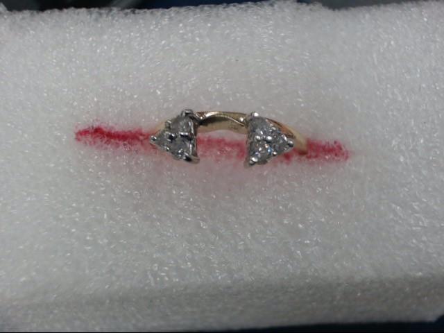Lady's Gold-Diamond Ring Guard 6 Diamonds .06 Carat T.W. 14K Yellow Gold
