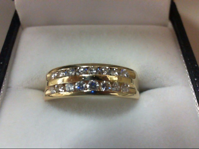 Lady's Diamond Wedding Band 16 Diamonds 0.64 Carat T.W. 14K Yellow Gold 4.2g