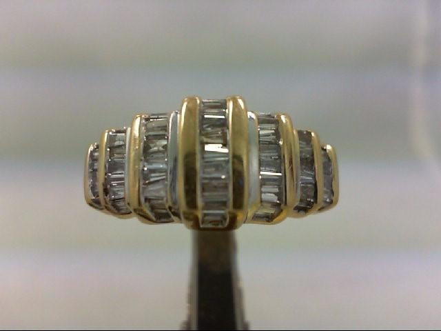 Lady's Diamond Wedding Band 50 Diamonds 1.00 Carat T.W. 14K Yellow Gold 4.36g