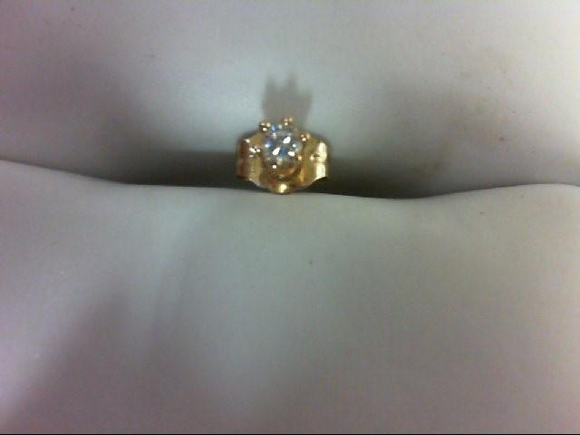 Gold-Diamond Earrings 0.08 CT. 14K Yellow Gold 0.3g