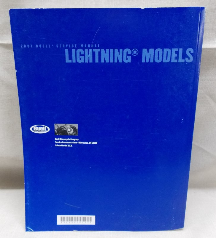 BUELL PARTS CATALOG PART NO. 99571-02Y- LIGHTNING X1 MODEL