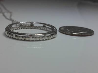 Diamond Necklace 48 Diamonds .48 Carat T.W. 10K White Gold 2.1g