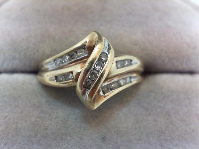 Lady's Diamond Fashion Ring 16 Diamonds .32 Carat T.W. 10K Yellow Gold 3.5g