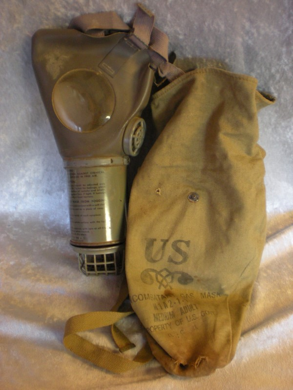 US ARMY M1A2 GAS MASK