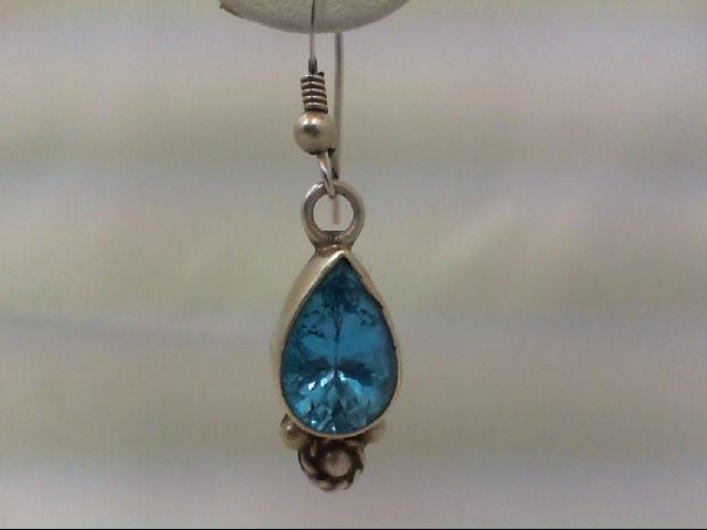 Blue Topaz Silver-Stone Earrings 925 Silver 5.7g