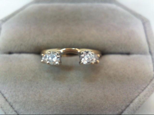 Lady's Gold-Diamond Ring Guard 4 Diamonds .53 Carat T.W. 14K Yellow Gold 2.6g