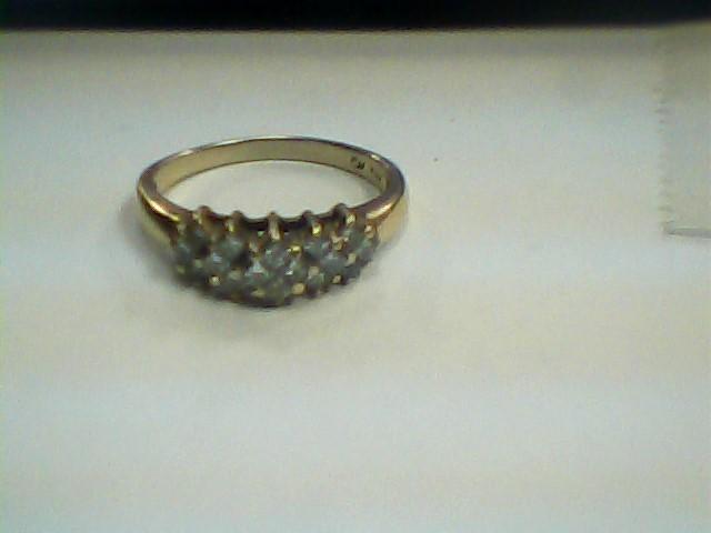 Lady's Diamond Cluster Ring 16 Diamonds 1.12 Carat T.W. 10K Yellow Gold 2.2dwt