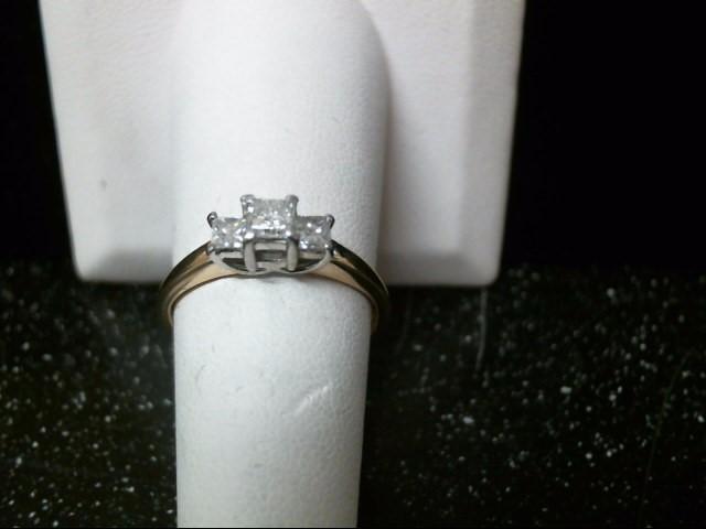 Lady's Diamond Engagement Ring 3 Diamonds .53 Carat T.W. 14K Yellow Gold 3.1g