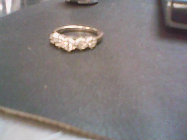 Lady's Diamond Cluster Ring 31 Diamonds .80 Carat T.W. 14K White Gold 3.7g