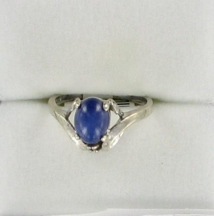 Lady's Gold Ring 14K White Gold 1.7dwt