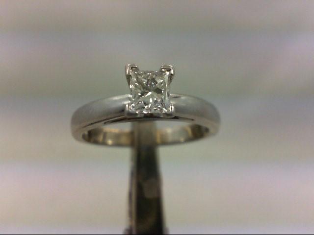 Lady's Platinum-Diamond Solitaire .60 CT. 950 Platinum 6.08g