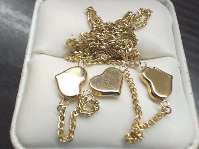 "18"" Gold Fashion Chain 10K Yellow Gold 3.7g"