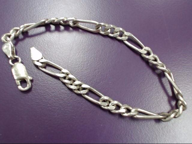 """8"""" STERLING SILVER (925) FIGARO DESIGNED BRACELET"""