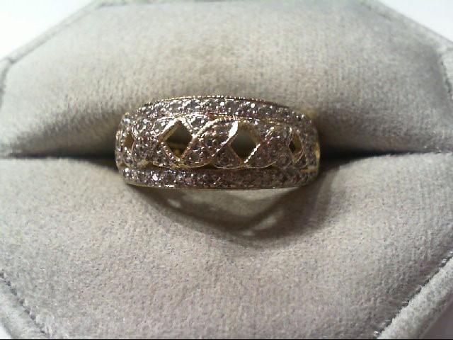 Lady's Diamond Fashion Ring 55 Diamonds .275 Carat T.W. 14K 2 Tone Gold 3.4g
