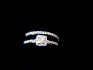 Lady's Diamond Wedding Set 52 Diamonds .71 Carat T.W. 14K White Gold 3.9g
