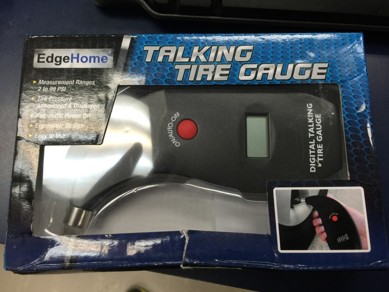 EDGEHOME TALKING TIRE GAUGE IN BOX S#818801012371