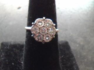 Lady's Diamond Cluster Ring 7 Diamonds 1.40 Carat T.W. 14K Yellow Gold 2dwt