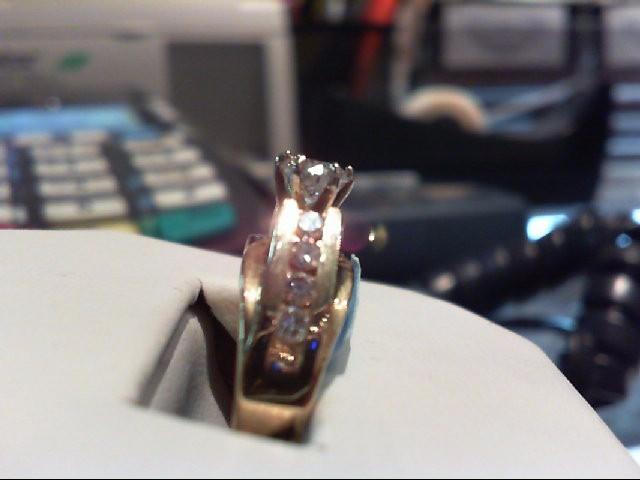 Lady's Diamond Engagement Ring 9 Diamonds .90 Carat T.W. 14K Yellow Gold 6.3g