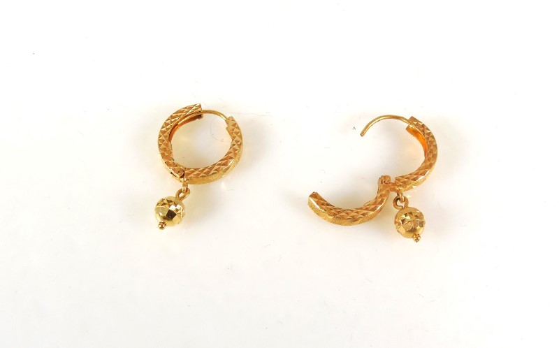Gold Earrings 18K Yellow Gold 4.9g