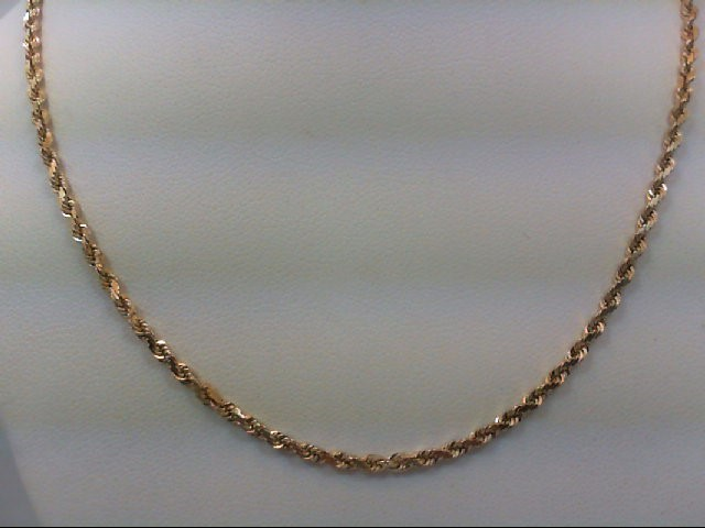 """19"""" Gold Rope Chain 14K Yellow Gold 7.9g"""