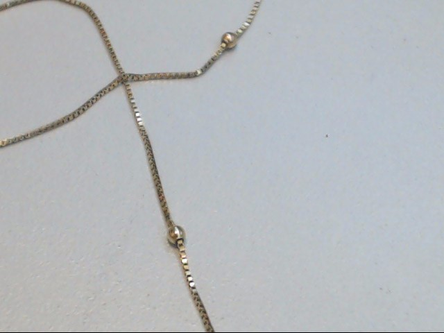 """ESTATE STATION BEAD BOX NECKLACE CHAIN SOLID 14K YELLOW GOLD 23"""""""
