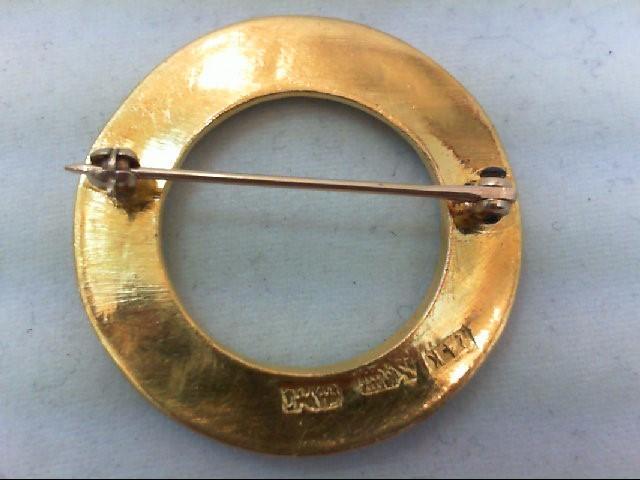 Gold Brooch 24K Yellow Gold 6.9g