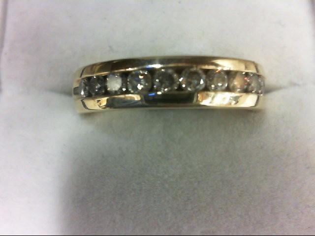 Lady's Diamond Wedding Band 10 Diamonds 0.5 Carat T.W. 14K Yellow Gold 6.4g