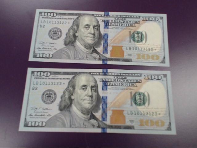 UNITED STATES Paper Money - World 2009 SERIES $100 STAR NOTE