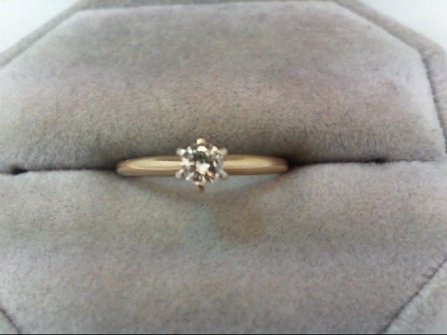 Lady's Diamond Engagement Ring .17 CT. 14K Yellow Gold 1.5g