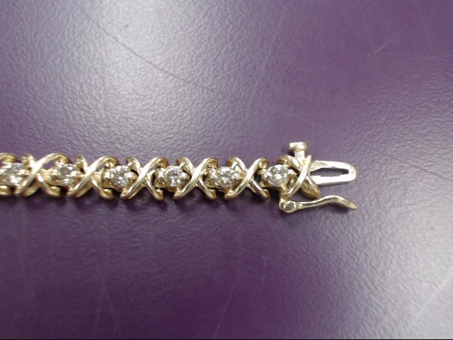 Gold-Diamond Bracelet 28 Diamonds 4.76 Carat T.W. 14K Yellow Gold 16g