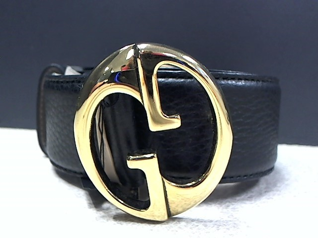 GUCCI 245884 BLACK LEATHER SIZE 36 BELT