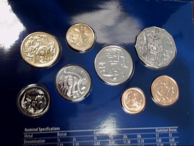 2006 4OTH ANNIVERSARY AUSTRALIAN COIN SET (8) UNCIRCULATED