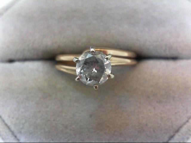 Lady's Diamond Engagement Ring .75 CT. 10K Yellow Gold 3.3g