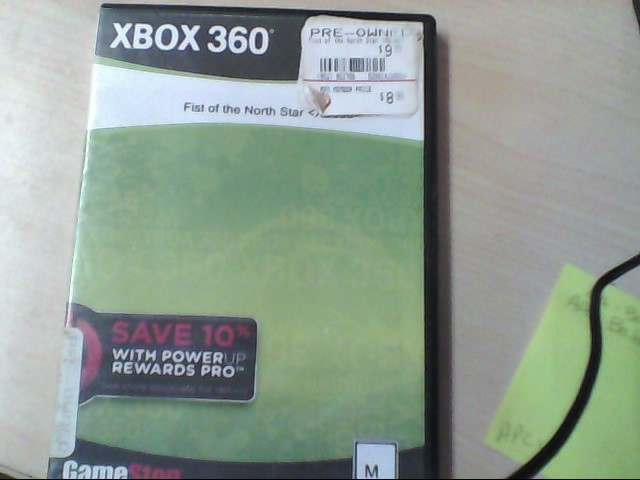 XBOX 360 GAME FIST OF THE NORTH STAR