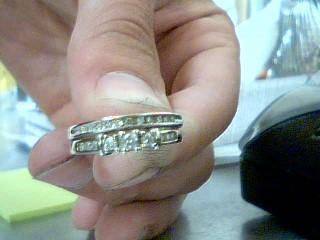 Lady's Diamond Wedding Set 20 Diamonds .36 Carat T.W. 10K White Gold 3.67g