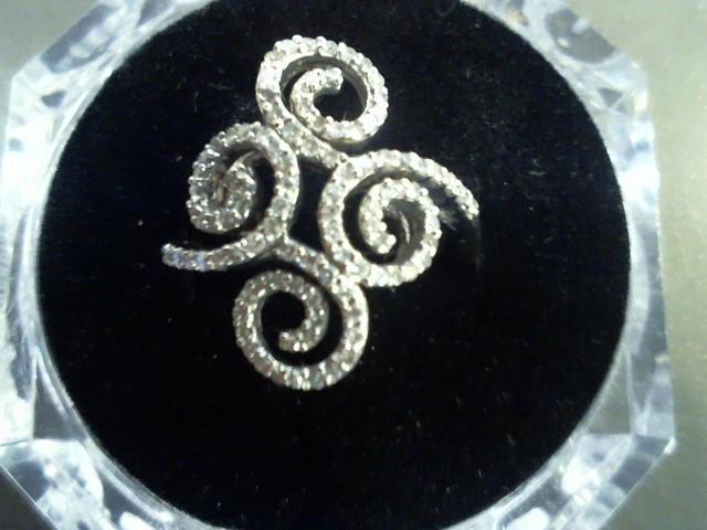 Lady's Diamond Fashion Ring 100 Diamonds 1.00 Carat T.W. 14K White Gold 4.1g