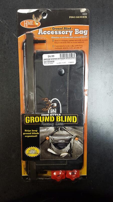 GROUND SHAKER Outdoor Sports BLIND ASSESSORY BAG