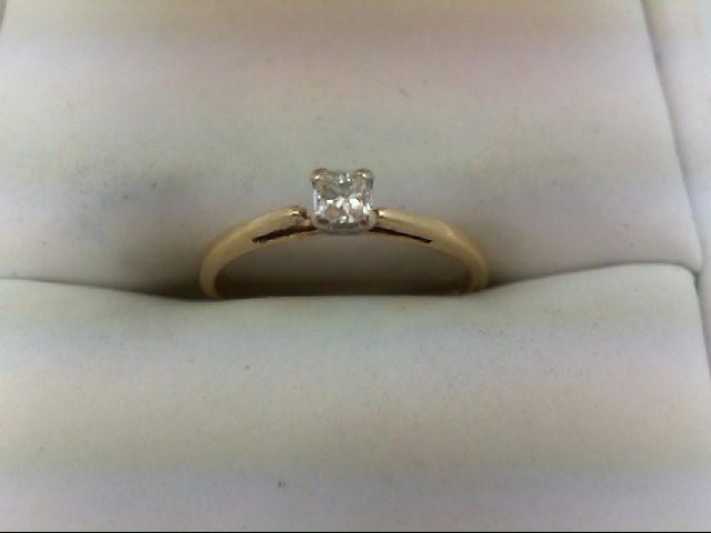 Lady's Diamond Engagement Ring 0.1 CT. 10K Yellow Gold 1.4g