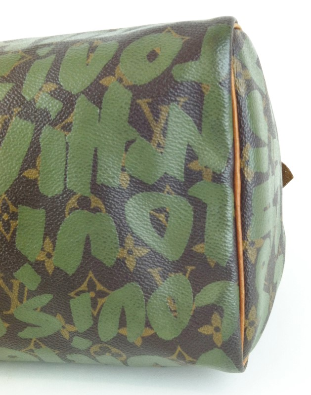 LOUIS VUITTON Sprouse Graffiti Speedy 30 Khak