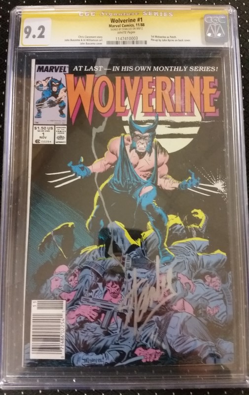 Wolverine #1 1988 CGC Signature Series 9.2 Stan Lee White Pages