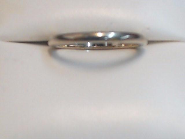 Lady's Gold Wedding Band 14K White Gold 2.1g Size:5.5