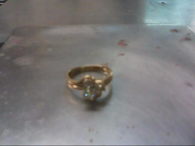Lady's Diamond Wedding Set 4 Diamonds .28 Carat T.W. 14K Yellow Gold 3.9g