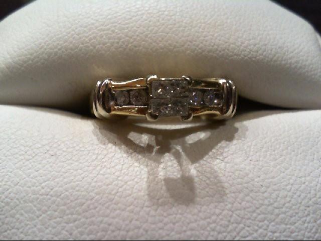 Lady's Diamond Engagement Ring 8 Diamonds .40 Carat T.W. 14K 2 Tone Gold 5.1g